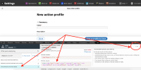 Form elements must have labels (create new action profile).png